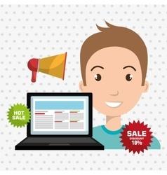 man sale shop online vector image