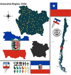 Map of Araucania vector