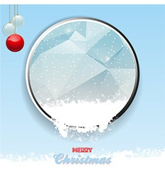 Merry Christmas border with ice and snow vector image