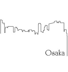 osaka city one line drawing vector image