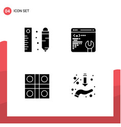 Pack creative solid glyphs drawing ludo vector