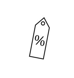 percent tag icon vector image