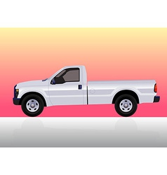 Pick-up truck white vector image