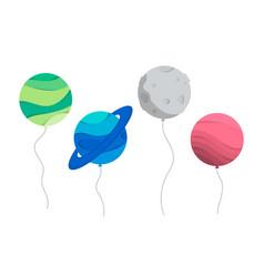 Planet ballons vector