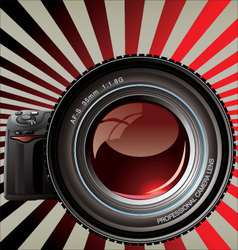 Professional camera - retro background vector