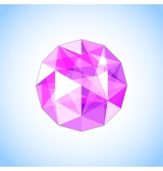 Realistic purple amethyst shaped Gem vector