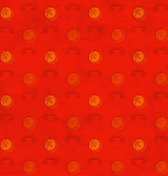 Red grungy pattern with Christmas baubles vector
