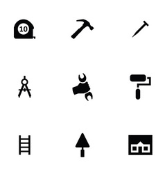 repair 9 icons set vector image