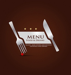 restaurant menu cover design vector image vector image