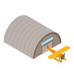 Retro seaplane icon isometric style vector