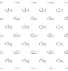 robot fish pattern seamless vector image