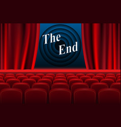 Scene cinema the end background realistic cinema vector