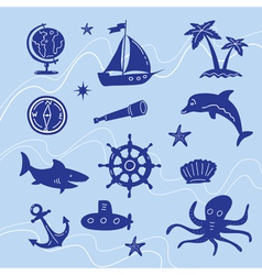sea adventure set vector image