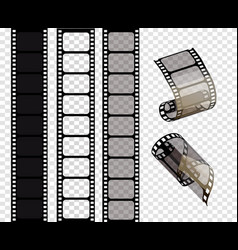 set of film strips of vector image