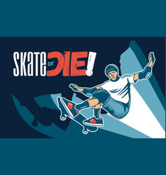 Skateboarding colored hand drawn vector