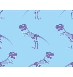 Skeleton t-Rex seamless pattern Purple Cute bone vector image vector image
