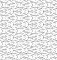 Slim gray hexagons and diamonds vector