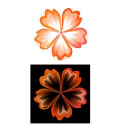 Smoky pattern flower five petal set vector