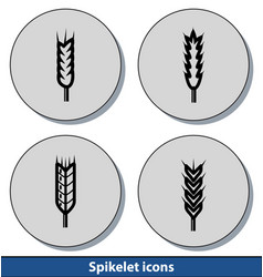 spikelet light icons vector image