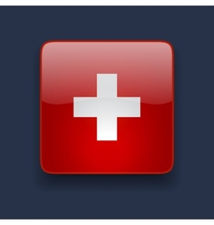 Square icon with flag of Switzerland vector image