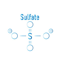 Sulfate chemical formula vector