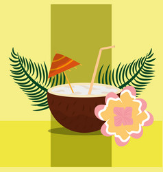 Summer time tropical vector