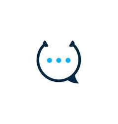 Talk medical logo icon design vector