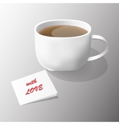 tea with love vector image