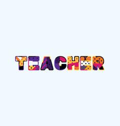 Teacher concept word art vector