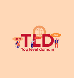 Tld top level domain organization site and web vector