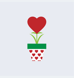 tree of lovered heart tree growing in pot vector image