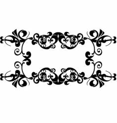 Twisted floral frame vector