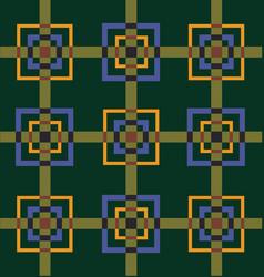 Vintage cubes pattern vector