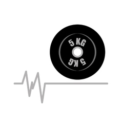 weight dumbbell fitness gym icon vector image