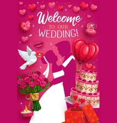 welcome to wedding engagement ceremony invitation vector image