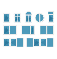 Windows with white frames vector