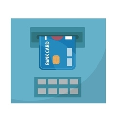 ATM with a bank card icon flat design isolated vector image