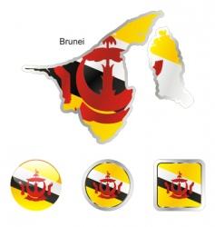 brunei vector image vector image