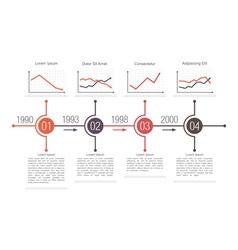 Business timeline design vector