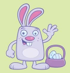 Easter bunny cartoon vector
