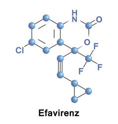 efavirenz antiretroviral medication vector image vector image
