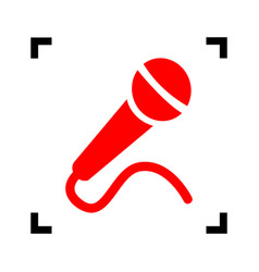 microphone sign red icon vector image