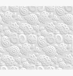 Paper 3d om seamless pattern vector