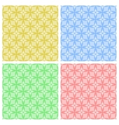 Seamless patterns Geometric backgrounds vector image vector image