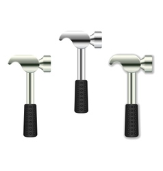 Hammer Icon Set Isolated On White vector image