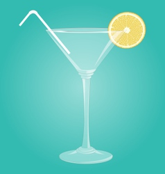 Martini glass with lemon vector image vector image