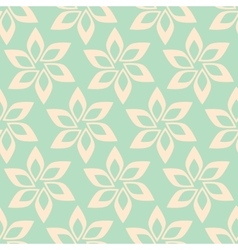 Simple flower seamless pattern vector image
