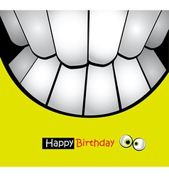 Happy Birthday Card smiles vector image vector image