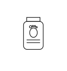 pets food icon vector image