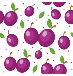plums seamless pattern plum endless background vector image vector image